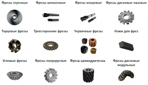 Все разновидности фрез по металлу для фрезерного станка и их назначение