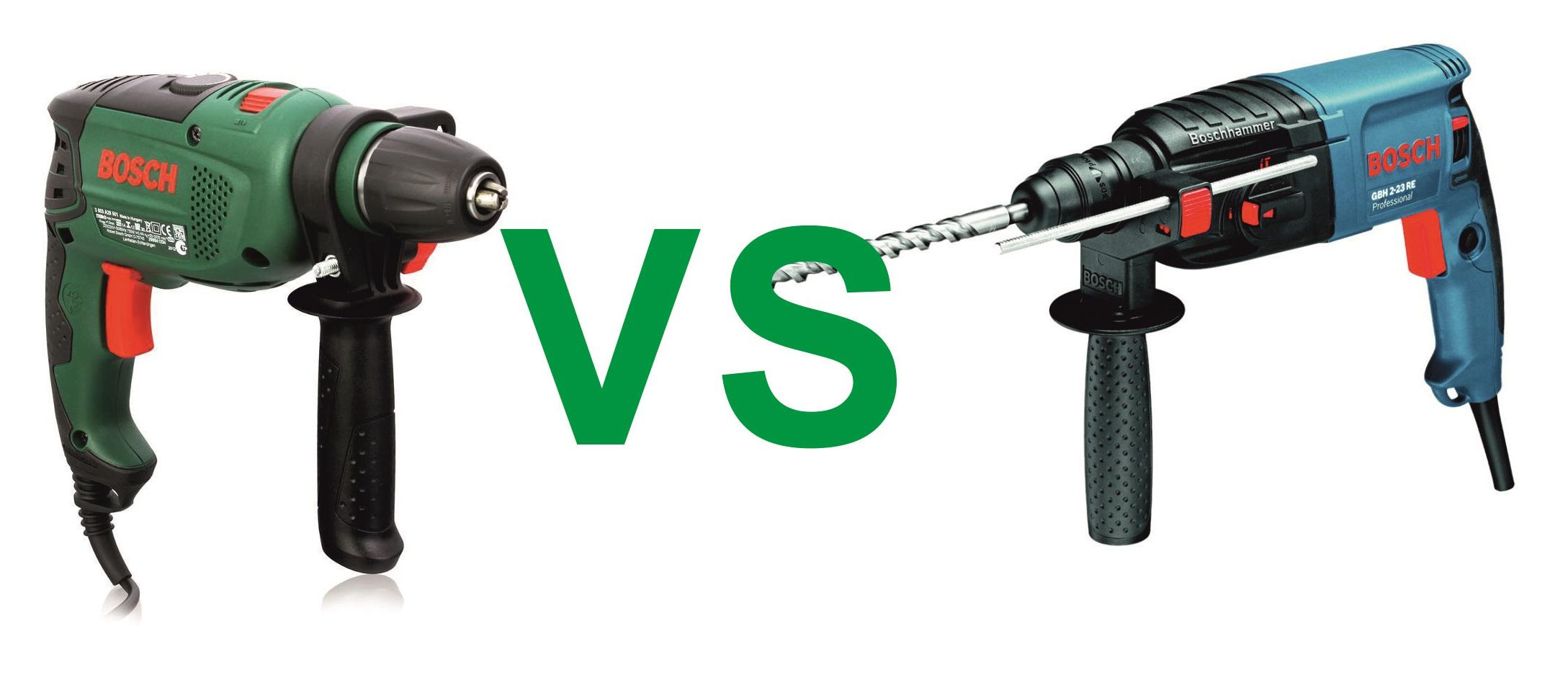 Ударная дрель или перфоратор: отличия и что выбрать