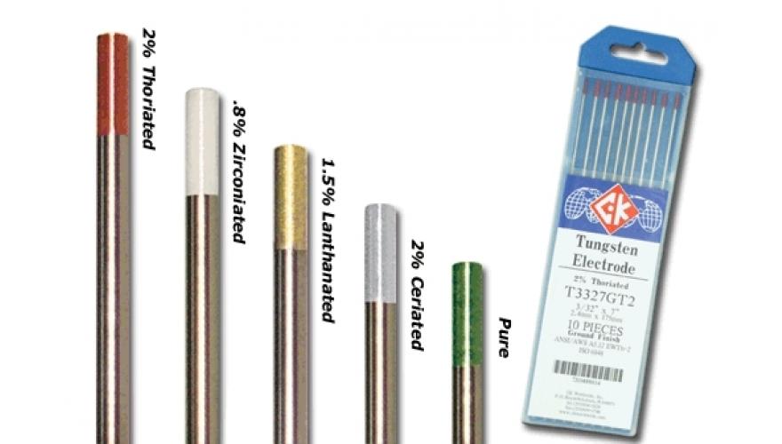 Вольфрамовые электроды для аргонодуговой сварки по цветам - о металле