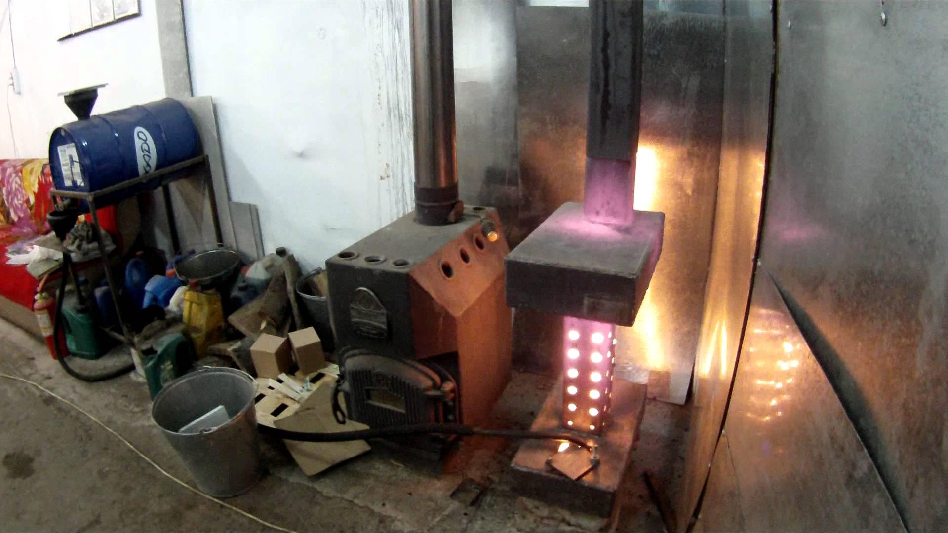 Чудо-печь на солярке для отопления гаража своими руками: 3 варианта