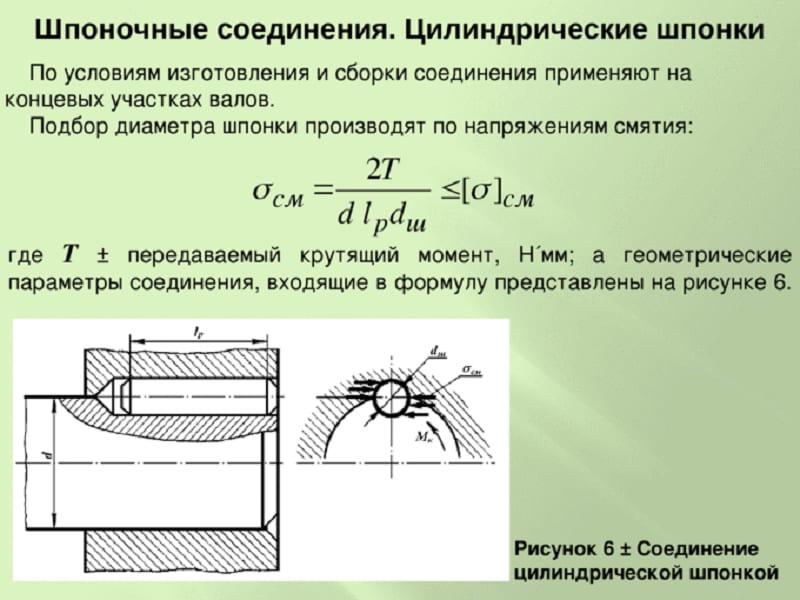 Основной расчет призматических шпонок производится по напряжениям - moy-instrument.ru - обзор инструмента и техники