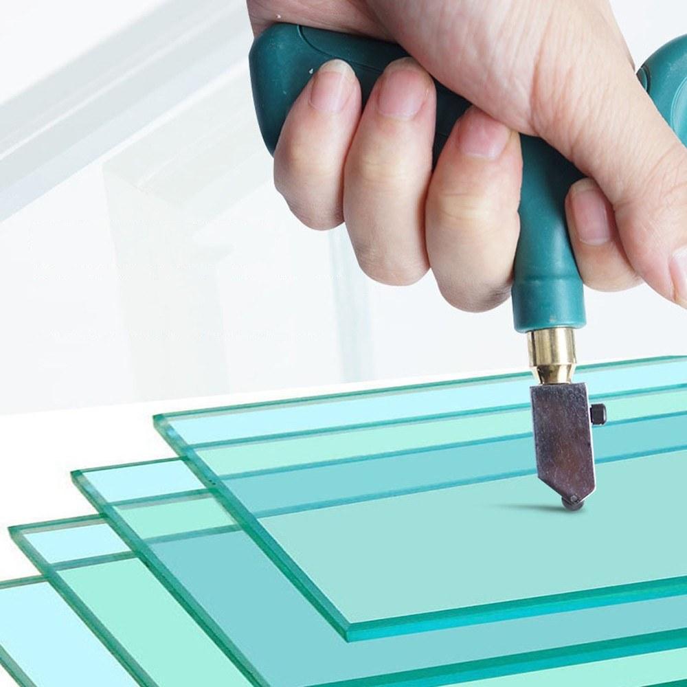 Как резать стекло стеклорезом: конструктивные особенности, техника безопасности (видео)