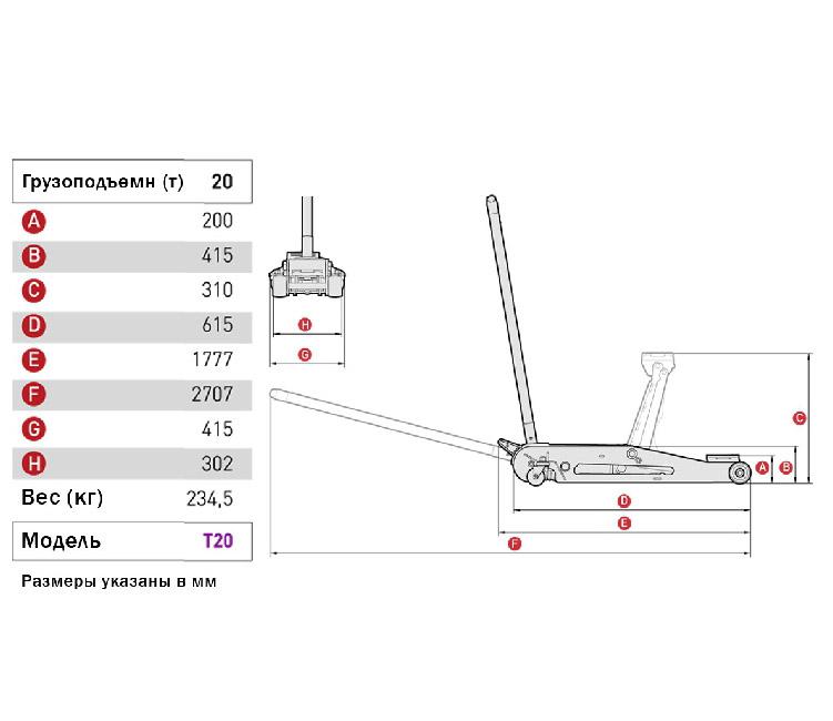 Устройство и принцип действия подкатного гидравлического домкрата