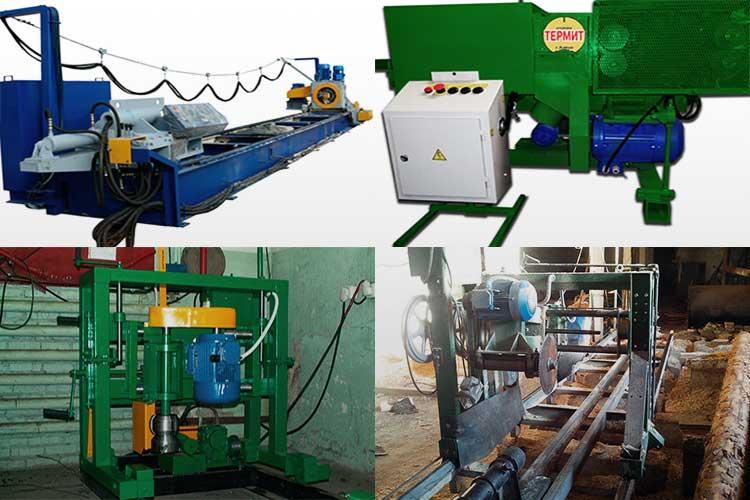 Оцилиндровочные станки для обработки бревен, их особенности и характеристики