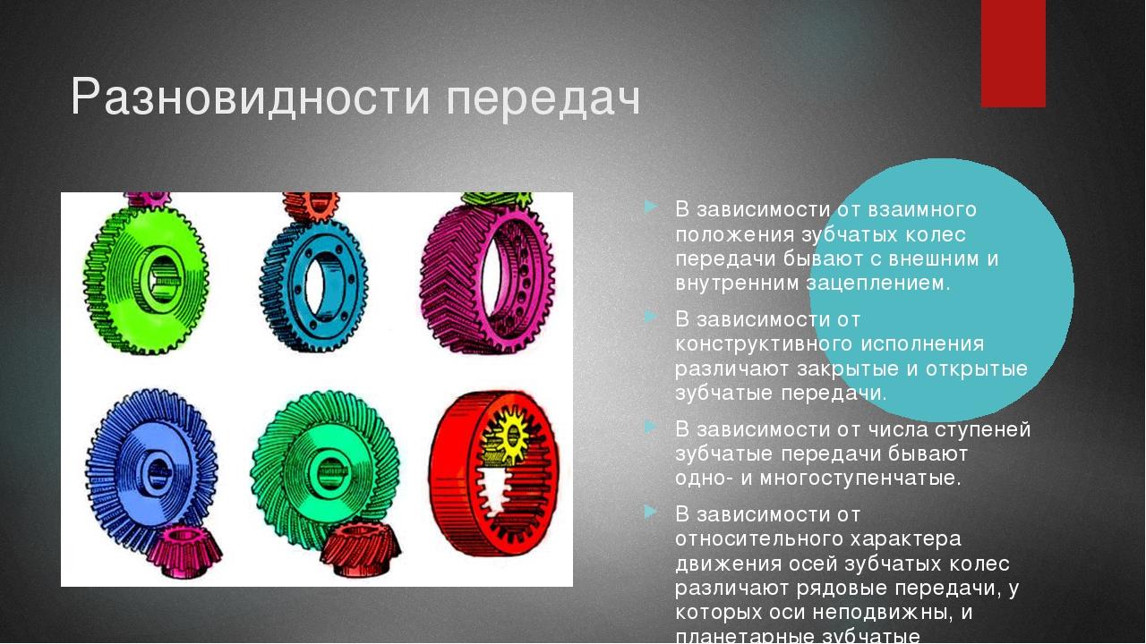 Зубчатое колесо: гост, параметры, виды, типы, расчет