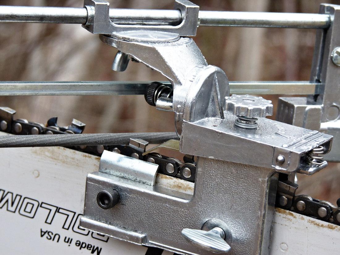 Самодельное устройство для заточки цепей бензопил