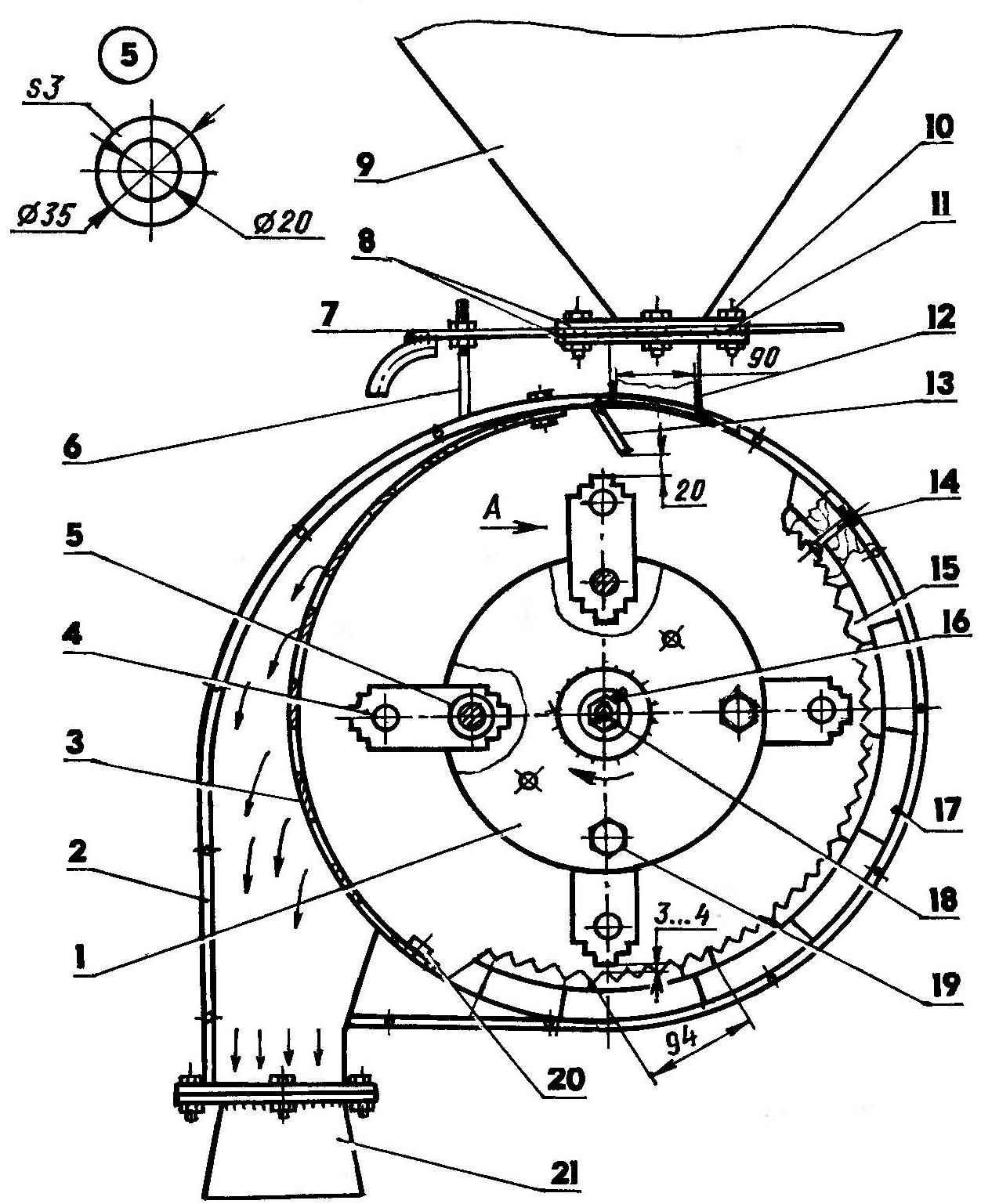 Зернодробилка своими руками: как сделать дробилку для зерна самому в домашних условиях из стиральной машины, самодельный доильный аппарат из пылесоса