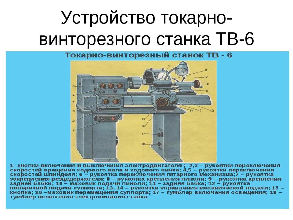 Токарный винторезные станок тв-3: технические характеристики