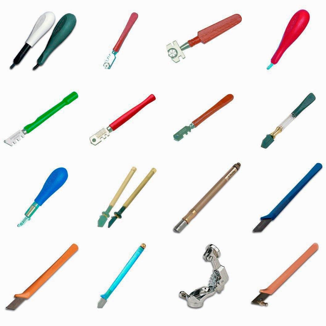 Стеклорезы (38 фото): какой инструмент для резки стекла лучше выбрать? роликовый для резки бутылок и другие виды. как они выглядят?