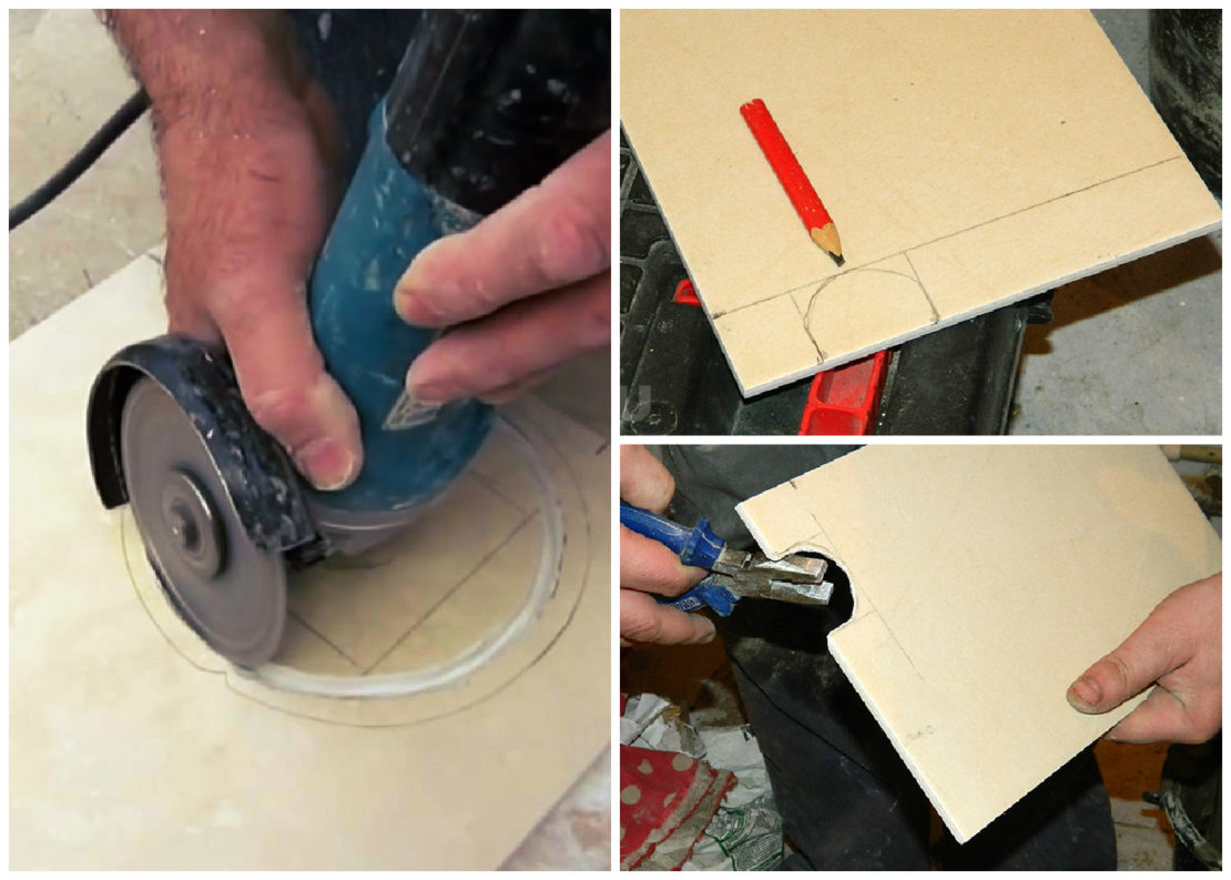 Как резать плитку ручным плиткорезом или болгаркой: ровно и без сколов