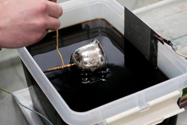 Электрохимическое серебрение металлоизделий