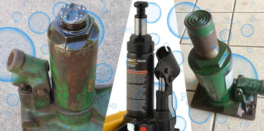 Неисправности гидравлического домкрата: что делать, если подкатной домкрат не держит и не поднимает под нагрузкой? почему не качают бутылочные домкраты?