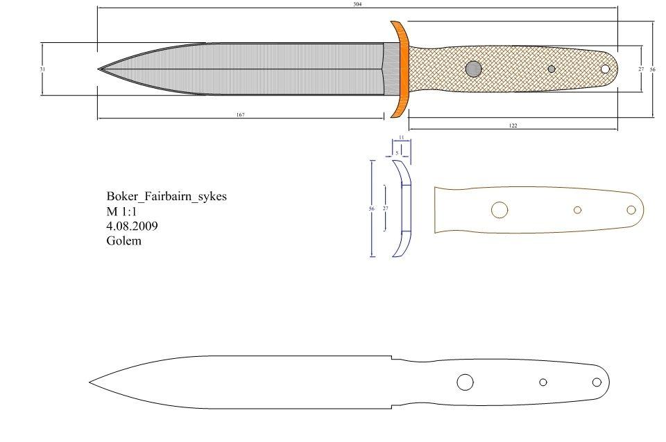 Нож метательный своими руками. чертежи метательных ножей, размеры
