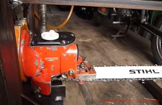 Самодельная пилорама из бензопилы: изготовление и видео
