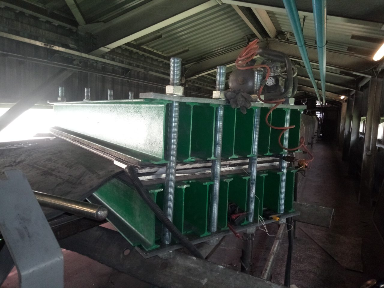 Стыковка конвейерных лент методом горячей вулканизации