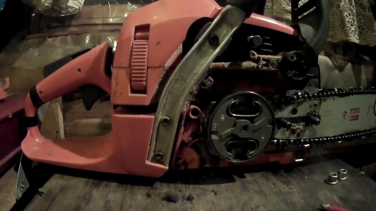 Как снять звездочку с бензопилы и отремонтировать ее (видео)