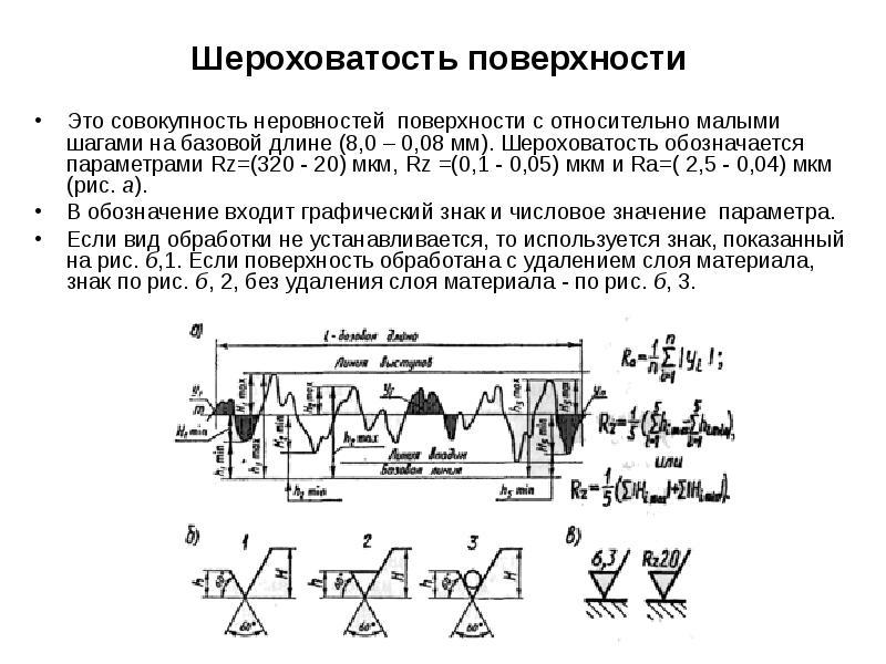 Образцы шероховатости поверхности (сравнения) ошс