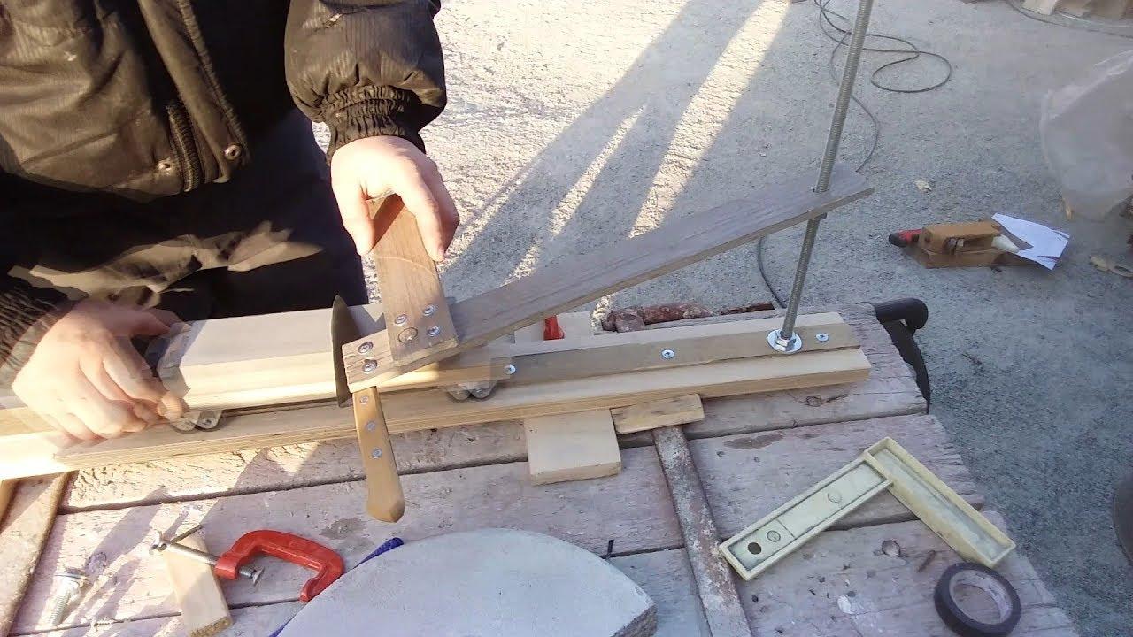 Приспособление для заточки ножей для рубанка своими руками