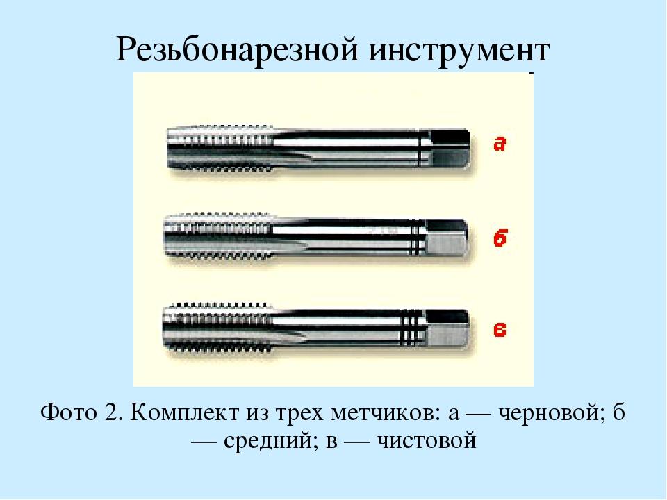 Метки для нарезки внутренней резьбы: свойства метчика, плашка, виды инструмента