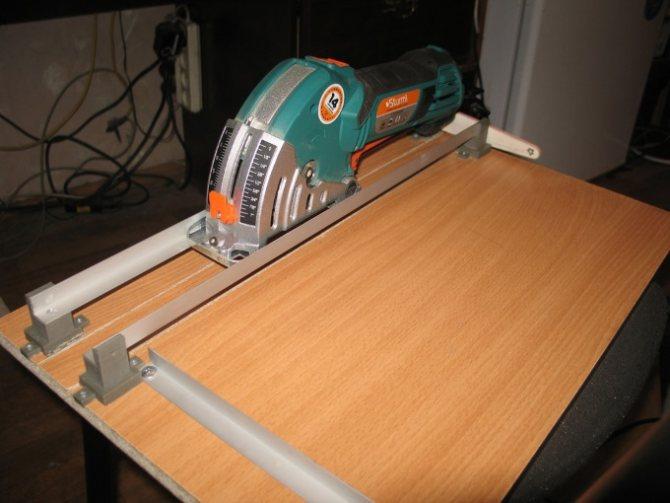 Направляющая шина для циркулярной пилы своими руками: схема, чертежи