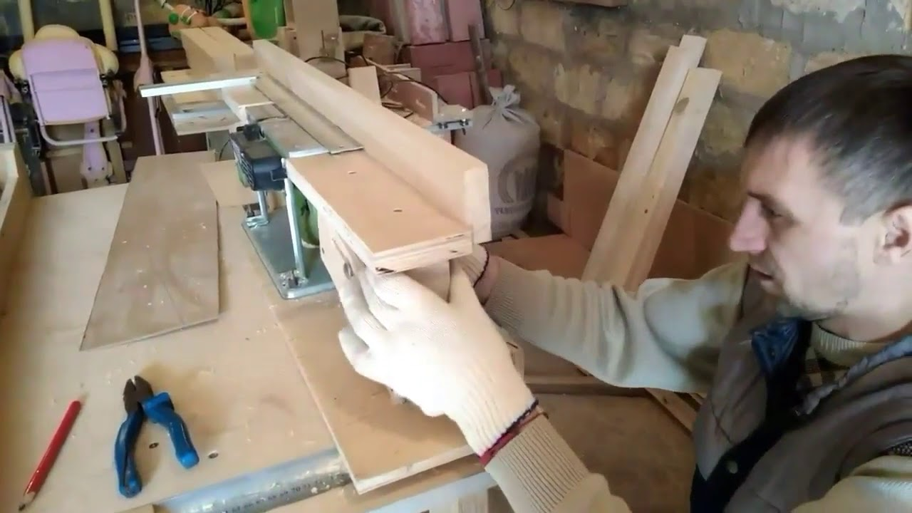 Фуганок из электрорубанка своими руками видео