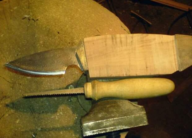 Нож из пилы своими руками: макет, обработка, закаливание