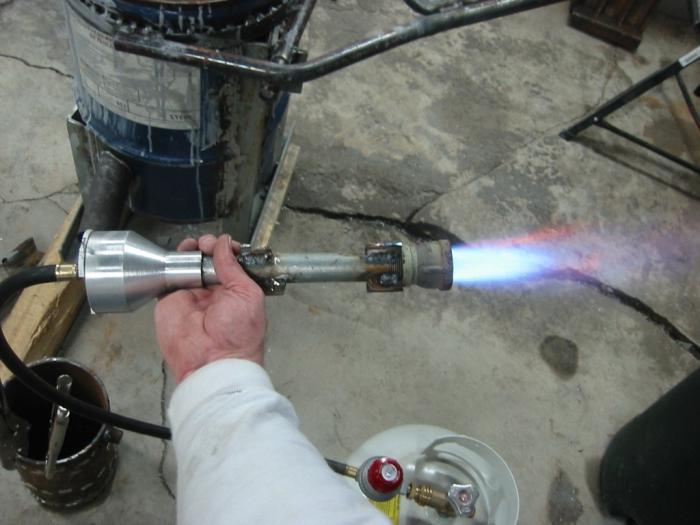 Газовая горелка для кузнечного горна своими руками