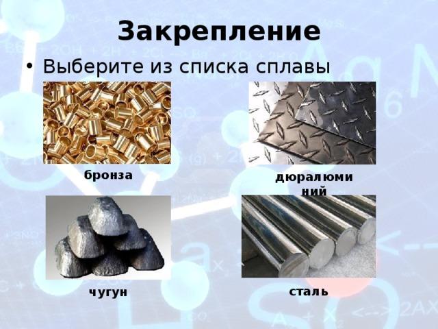 Применение алюминия