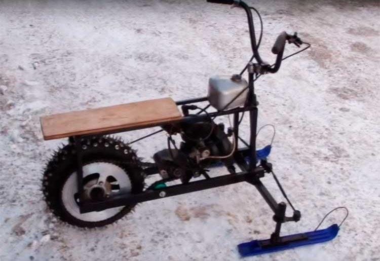 Самодельный снегоход из бензопилы «дружба», «урал», «штиль». мини-снегоход из бензопилы