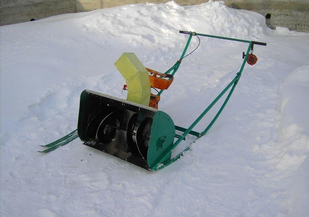 Снегоуборщик для мотоблока своими руками и снегоочиститель из газового баллона – чертежи
