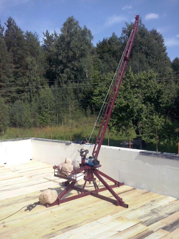 Подъемный кран своими руками – как сделать из подручных материалов
