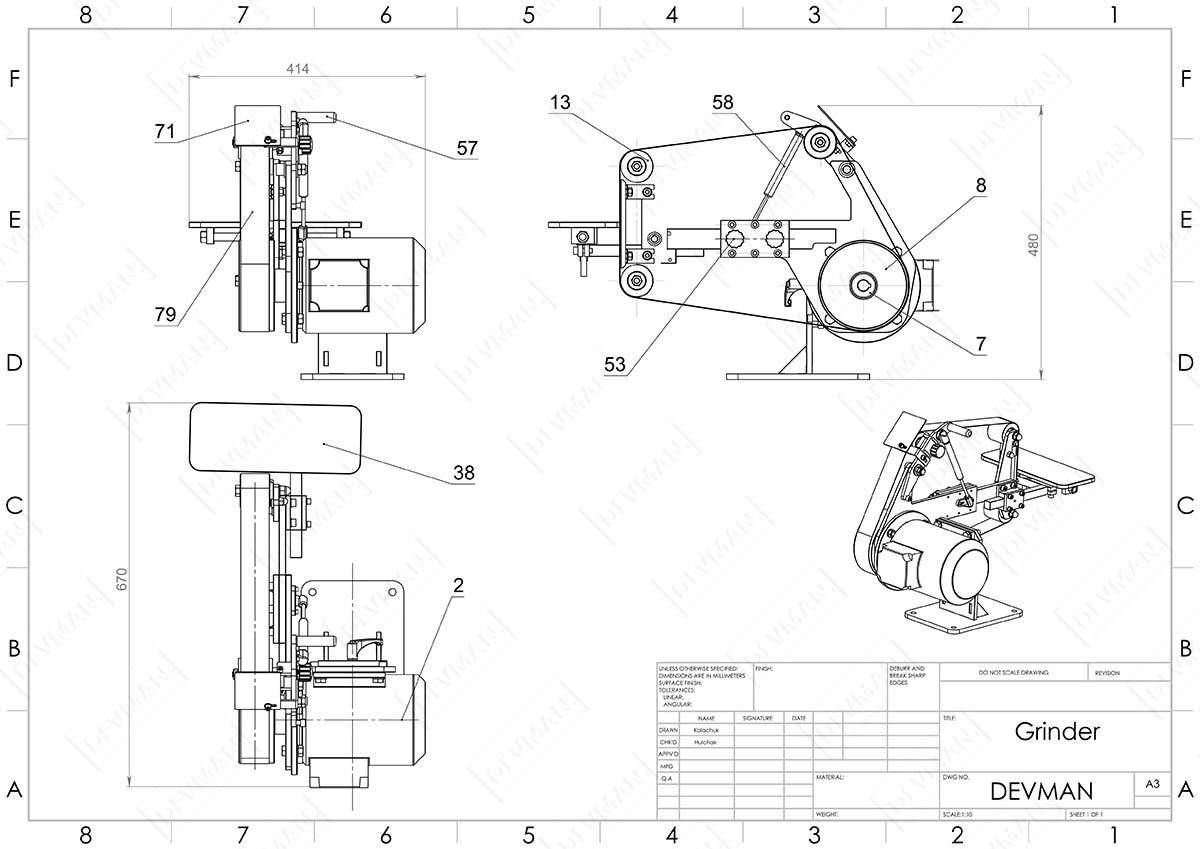 Гриндер своими руками: чертежи с размерами составляющих и алгоритм сборки – советы по ремонту
