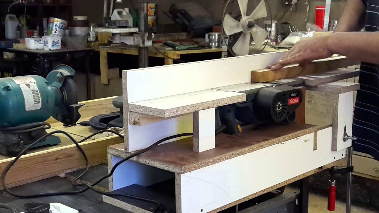 Фуговальный станок своими руками на базе электрорубанка. изготовление фуганка из электрорубанка в домашних условиях станок из ручного рубанка своими руками - электричество