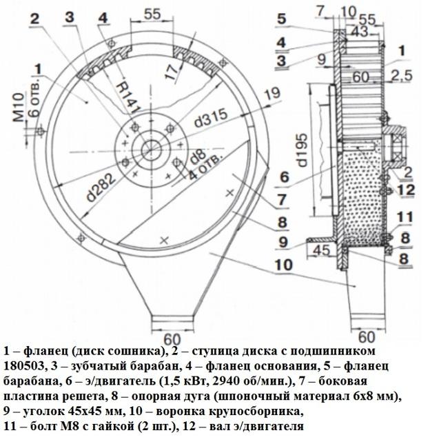 Зернодробилка своими руками