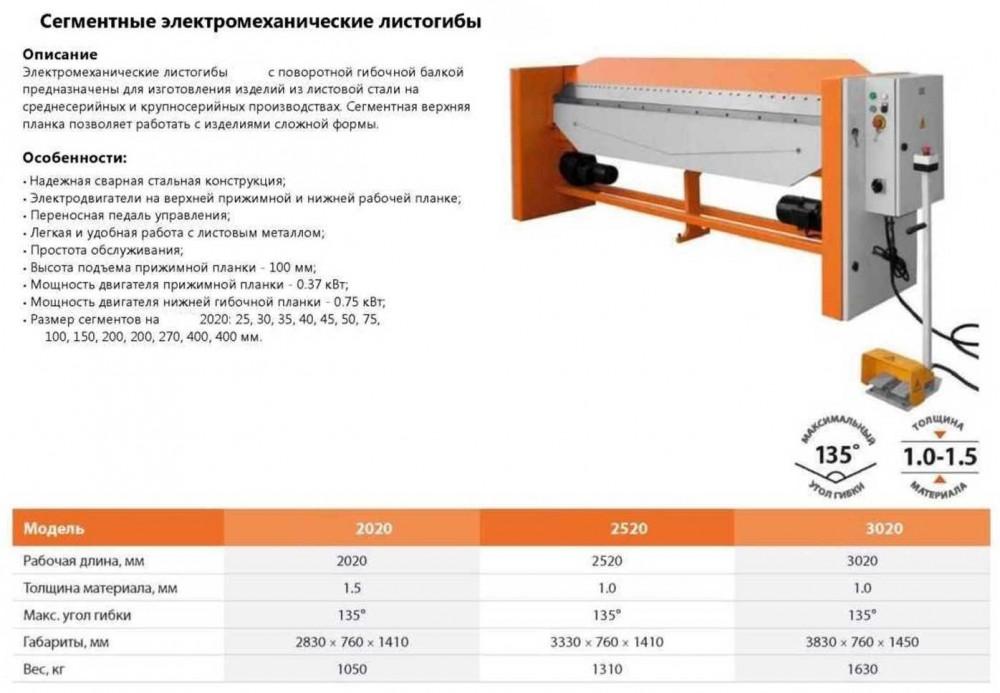 Листогиб сегментный и с поворотной балкой - особенности оборудования + видео