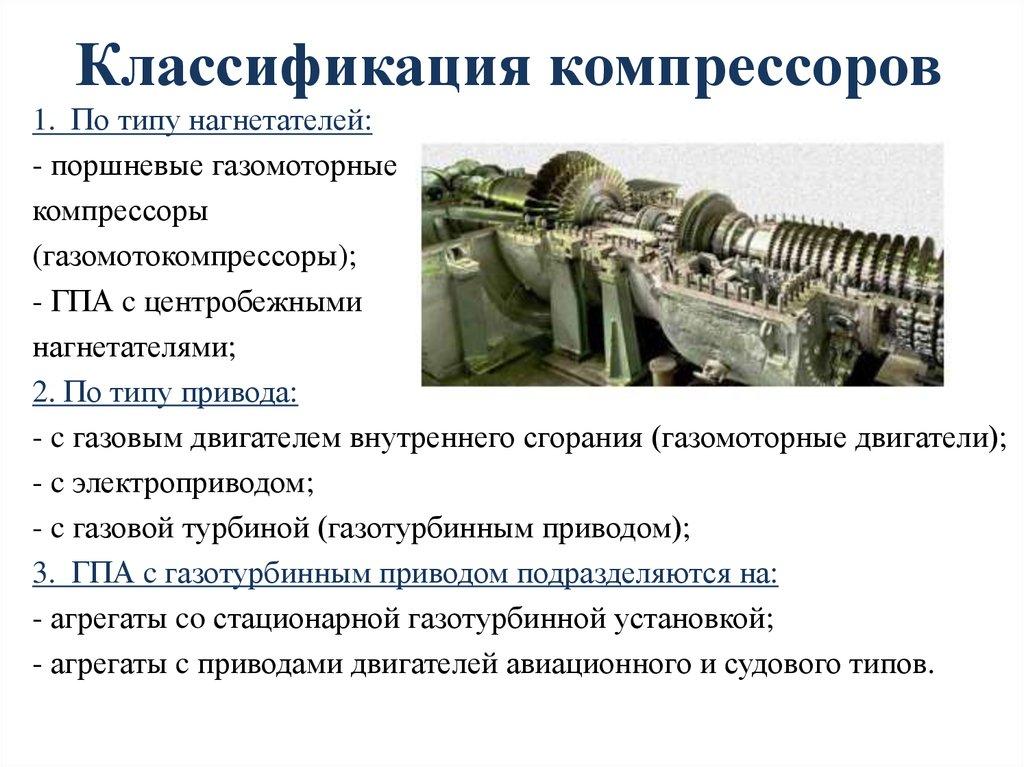 Виды компрессоров: классификация по принципу действия, типу привода, условиям эксплуатации