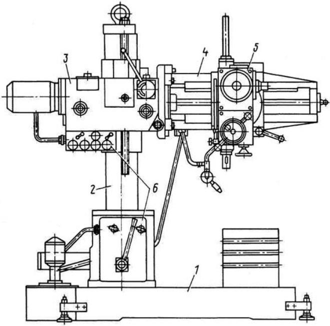 Технические характеристики радиально сверлильного станка 2м55
