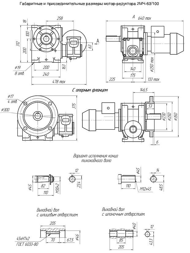 Выбор мотор-редуктора - характеристики, типы, питание