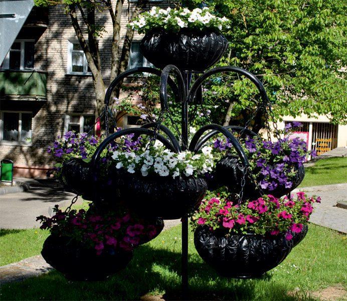Кованые изделия для цветов