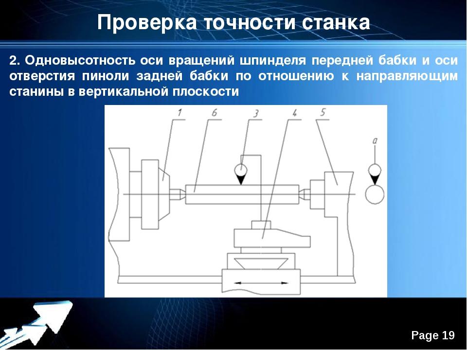 Точность станка. испытания металлорежущих станков на точность