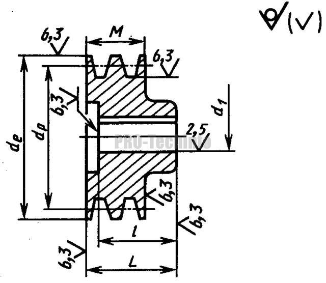 Расчет диаметра шкива клиноременной передачи - moy-instrument.ru - обзор инструмента и техники