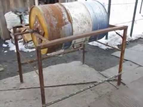 Бетономешалка из бочки своими руками с ручным и механическим приводом