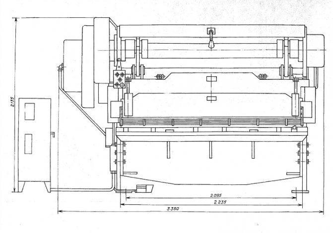 Н3121 Ножницы гильотинные кривошипны для листового металла