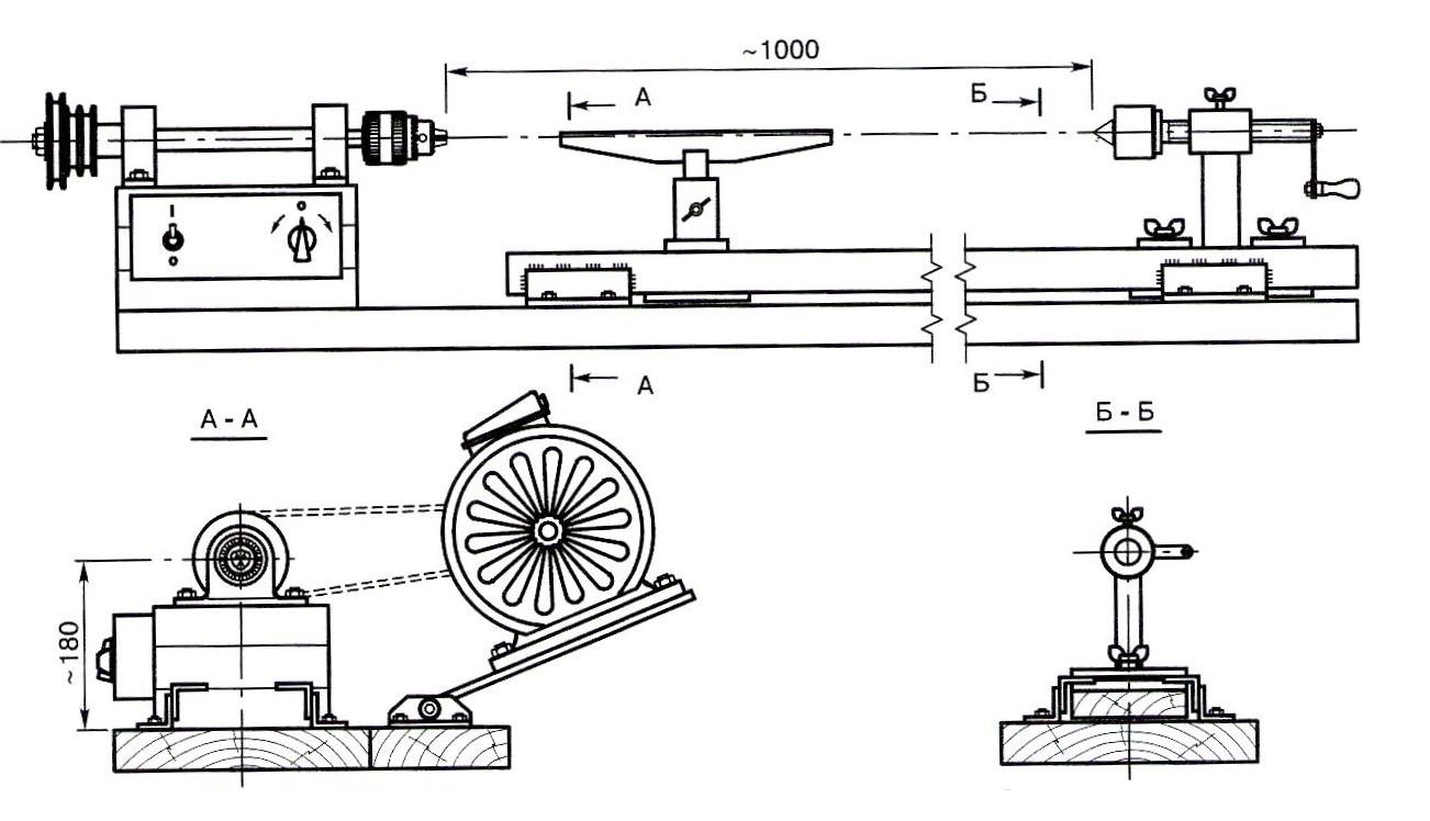Токарный станок по металлу своими руками: чертеж, как сделать