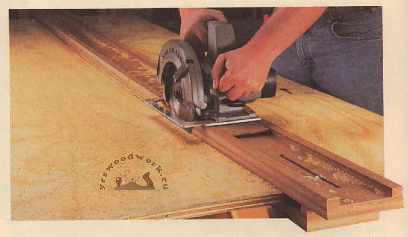Направляющая шина (каретка) для циркулярной пилы своими руками