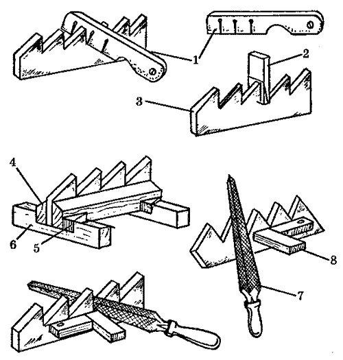 Как наточить ножовку по дереву