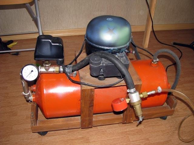 Воздушный компрессор: сделать из холодильника своими руками - zetsila