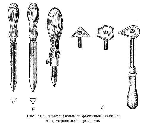 Слесарные ручные шаберы по металлу: трехгранные, плоские, фасонные