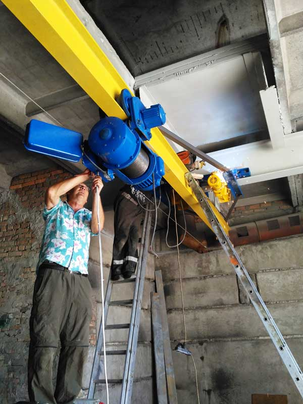 Основные этапы монтажа кран-балки: подвесной или опорной