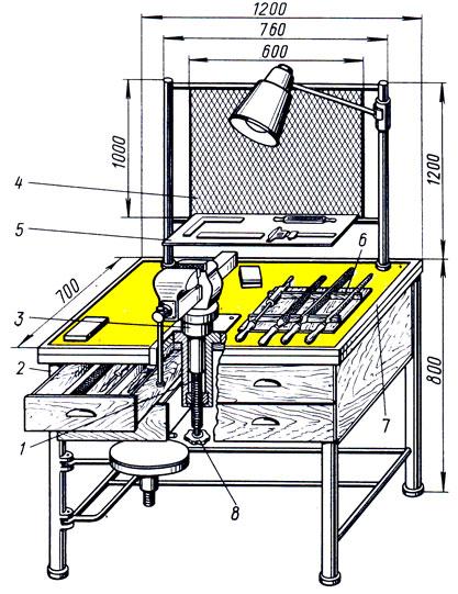 Слесарный верстак своими руками: изготовление, чертежи, модели